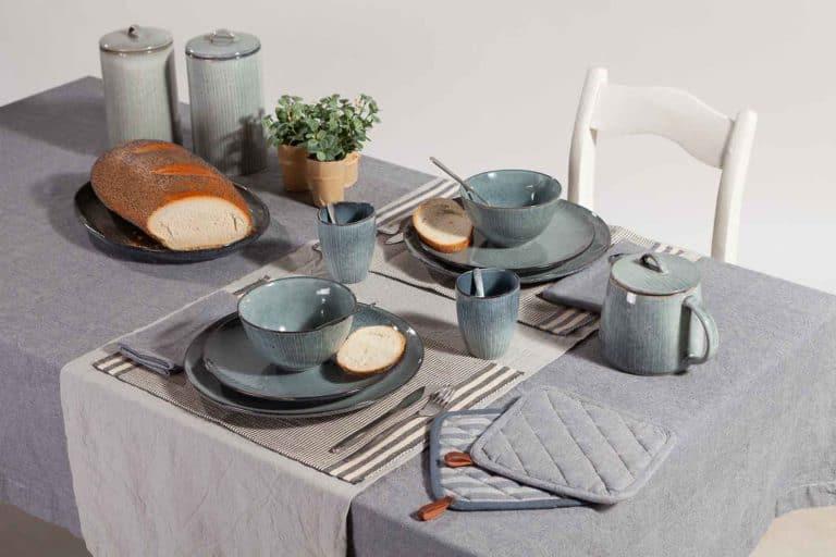 Gedekte tafel met Linen & More keukencollectie